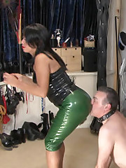 Latex ass worship