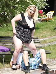 Busty and beautful big beautiful woman Rebecca punishes guy