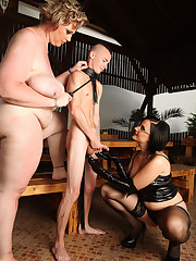 SBBW and a corpulent torturing a boy slave