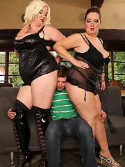 BBW Sandwich sex is neverseen bbw femdom threesome