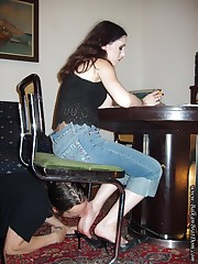 Mistress increased by will not hear of foot slave