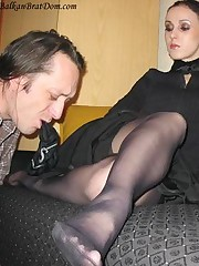 Bizarre footdom, bangtail training and ass servitude at home