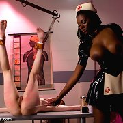 Promiscuous slut is punished heavily by kinky evil n..