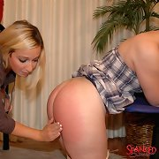 Daddy spanked two bad girls