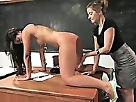 Leah is face slapped and spanked, stripped of her clothes