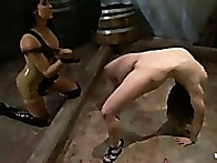 Her natural tits and full ass get played with and punished
