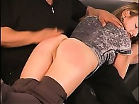 Young sweetheart was spanked