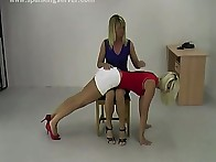 Baby spanked girlfriend otk
