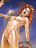 Bondage art featuring fantasy women