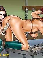 Comic-style bondage art