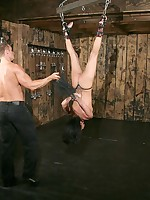 Flogged and fucked while suspended