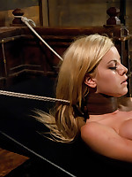Blonde ass fucked until she squirts, her perfect conclave totally rocked by machines on high, she does DP and deep, mad hot anal fucking.