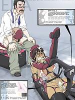 Cruel bondage inflicted on helpless hentai beauties