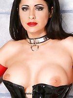 Black and white-hot latex girl