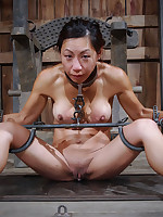 Asian submissive experiences intense breath control