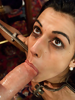 Hot french maid in bound, domination and asshole sex