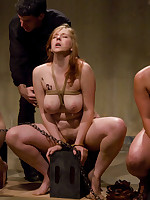 A class of slavegirls practices oral technique, confinement
