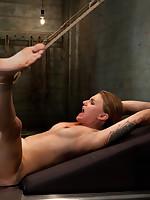 Slavegirl endures breast torture and rope bondage