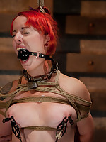 Slave slutty is getting extreme torture and intense orgasms