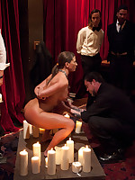 Ariel is first lesbian slave to be initiated to House.