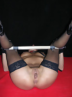 Painful genital piercings, tit torture and harsh bondage
