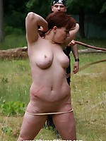 Redhead suffers a fierce outdoor bullwhipping