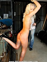Pretty blonde punished with ass whipping