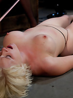Blonde submissive endures the violet wand