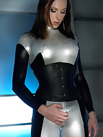 TS Eva Cassini, Latex & Katie St. Ives fucking nearly the sci-fi future. Quick futuristic intro, take charge sex, games & trademark Eva ramp fire cum shot!