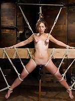 Audrey In the best of health Challenged with Burdensome Beam Bondage