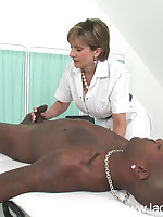 Interracial smothering as Domme sits on black man's face