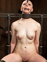 Part 1 of Alani Pi's DeviceBondage.com Continue Pretend - Alani's head acquires absolutely shaved whilst in metal stocks and tormented yon pain and..