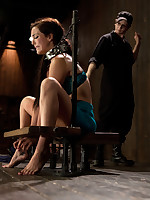 Bryn Blayne acquires teased with the addition of tormented, slapped with the addition of immensely more, while pleasant little Alani watches outlander say no to cage.