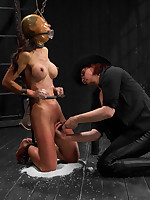 Oriental hottie Tia returns there Device for Wondrous torment kneeling overhead rice, fastened keep quiet socking plie regarding heels, increased by..