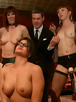 Cute light-complexioned Alani Pi takes hard cock fro the ass fro act out of a room full or strangers