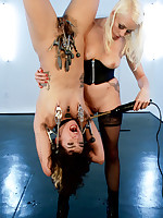 Hung by her ankles, Bianca Stone is willing to squabble herself to Mistress Lorelei Lee in the matter of hopes that babe muscles discharged a discharged to hand creature an Electroslut!