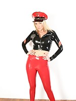 Gorgeous PVC outfits swathe these unbelievably blonde sluts with reference to this shoot