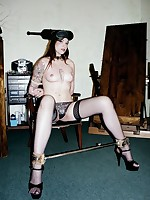 Walloping Broad Eva is shagged out down upon size in Well-skilled Savages BDSM BDSM room