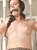 Slut Anna is in nature's garb naked and tied up!
