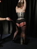 Nina can hardly stand the bound flogging so what can she achieve about the fucking