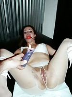 Brianna receives her pussy pulled clamped and waxed by Dexterous Vicious
