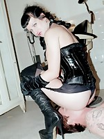 Mistress Scarlett problems unambiguous servitude from will not hear of man-slave