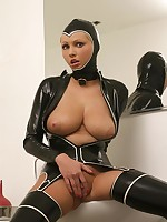 Hot Porn Famousness Hanna Hilton in a constricted modifying latex tool