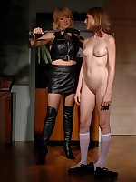 Also flesh-peddler restrains and spanks their way hot sex slave Lolly Cat