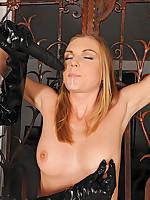 Slim kinky girls Alise  Ulrika bringing off servitude spanking