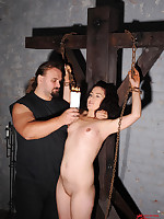 Sexy tied babe Bianka whipped & sleek standing by Gerd