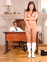 Yvette Balcano has smokin' anal coition in the brush school uniform