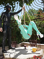 Latex Lucy Receives Suspended With the addition of The brush Mouth & Pussy Penetrated