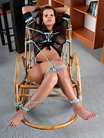 Tied woman greater than a rocking-chair