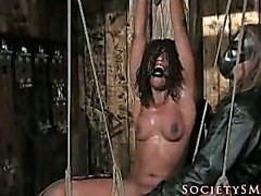 Suspensions and divides devised for slavegirl.